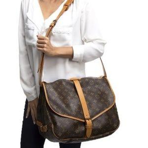 Authentic Louis Vuitton Shoulder Bag Saumur 35